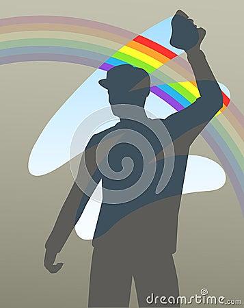Rainbow wipe
