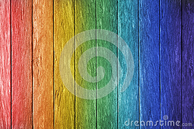 Rainbow Wood Background