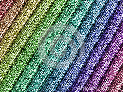 Rainbow Wool Fabric