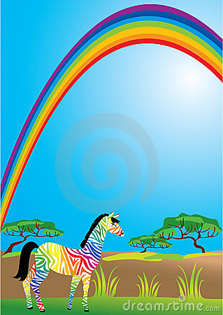 Rainbow and zebra