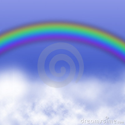 Rainbowin sky