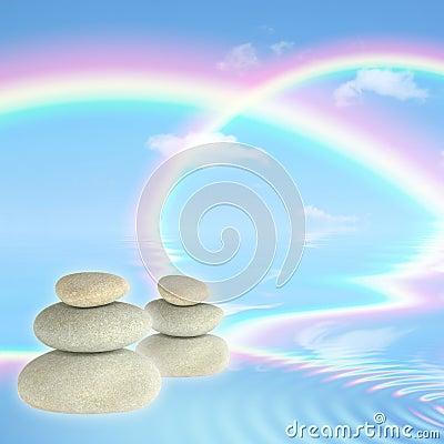 Free Rainbows And Spa Stones Stock Photo - 8832060