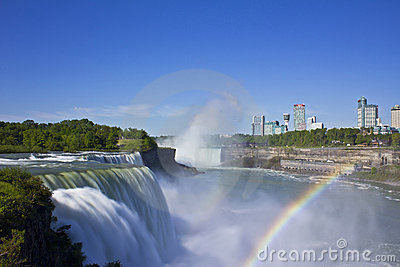 RAINBOWS AT NIAGARA FALLS Editorial Stock Image