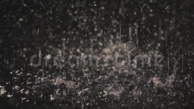 Raindrops in the dark in the lantern light 3 stock footage