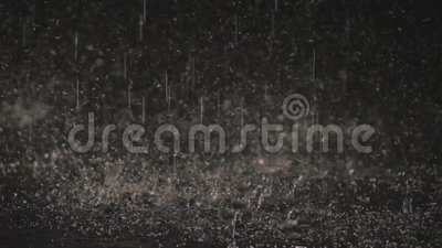 Raindrops in the dark in the lantern light 1 stock video