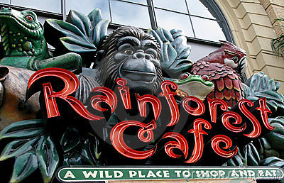Rainforest cafe Editorial Stock Image