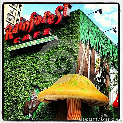 Rainforest Cafe Editorial Stock Photo