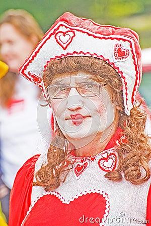 Rainha dos corações. Foto Editorial