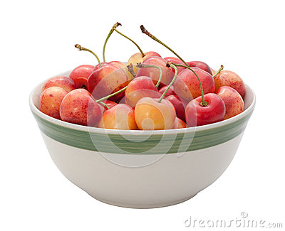 Rainier Cherries Isolated