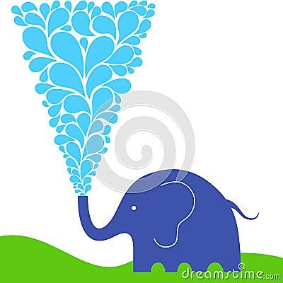 Raining elephant