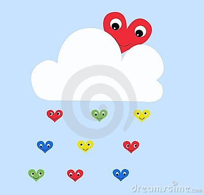 Raining Hearts Stock Photo - Image: 15337710