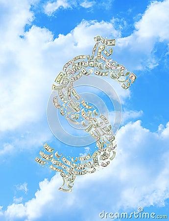 Raining Money Dollar Sky