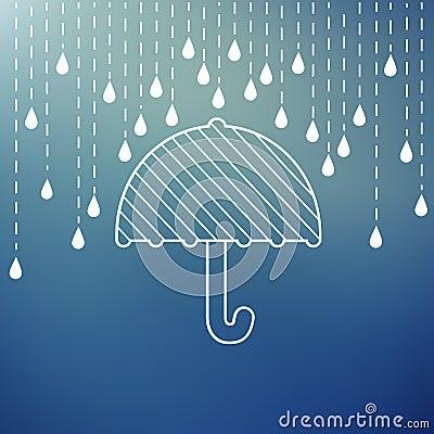 Free Raining On A Umbrella Royalty Free Stock Photo - 49548005