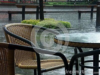 Raining terrace