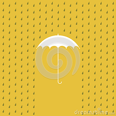 Raining on a umbrella