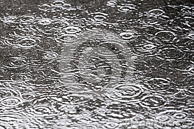 Rainy background with water circles