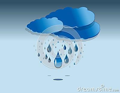 Rainy clouds illustration
