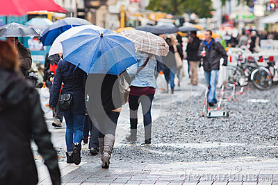 On a rainy day in the city