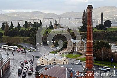 Rainy day in Hobart, Tasmania