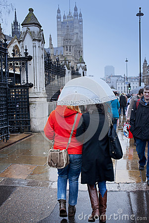 Rainy day in London Editorial Stock Photo