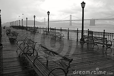 Rainy day in San Francisco.