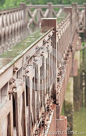 Rainy Day and Wooden Bridge