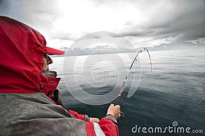 Rainy fishing