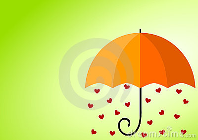 Rainy Hearts Umbrella