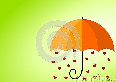 Rainy Hearts Umbrella