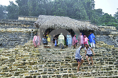 Rainy last day of Maya calendar Editorial Stock Image