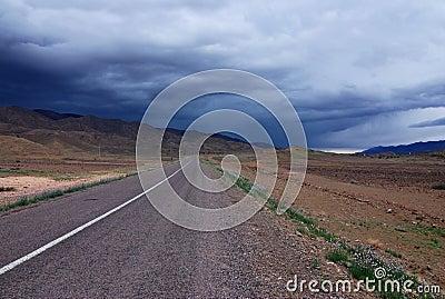 Rainy Moroccan Road