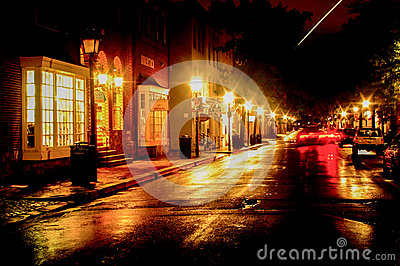 Rainy Night Sky Streak Editorial Stock Image