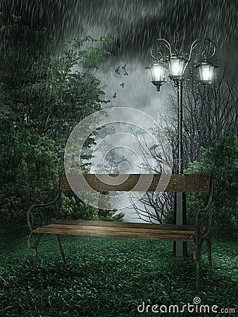 Rainy park