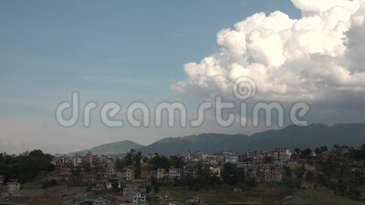 Rainy Season Beginning. Storm clouds rolling over the city of Kathmandu at the beginnning of rainy season stock video