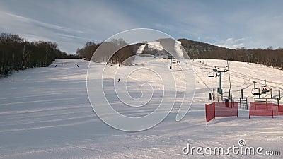 Raio de esqui mont tremblant vista no lado norte filme