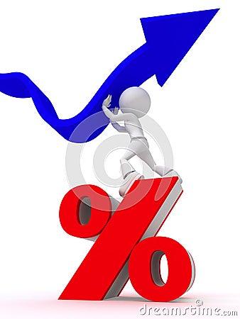 Raise percentage concept