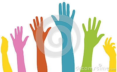 Raised arms of diversity