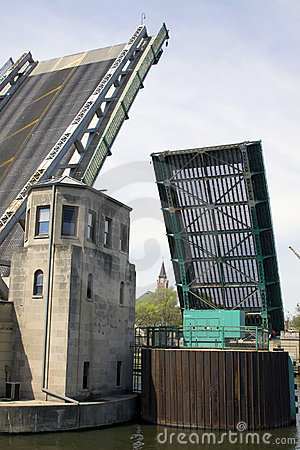 Raised bridge with bridgeman tower.