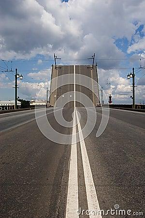 Raised drawbridge