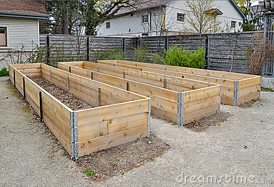 Picture Flower Beds on Raised Flower Beds Stock Images   Image  19434534