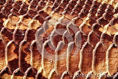 Raised leather texture