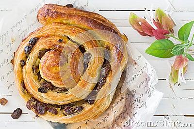 Raisin Danish pastry swirl, brioche