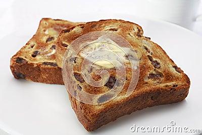 Raisin Fruit Toast with Polyunsaturated Margarine