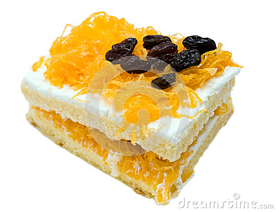 Raisin gold egg yolks thread cake