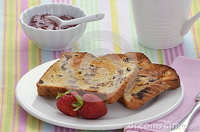 Raisin Toast Royalty Free Stock Photography - Image: 25666417