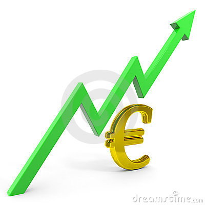 Raising euro graph.