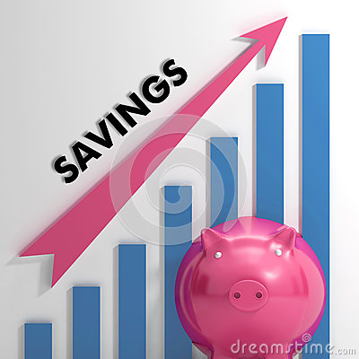 Raising Savings Chart Shows Personal Progress