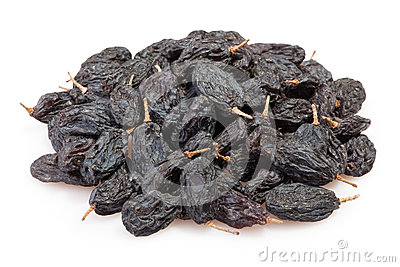 Raisins black heap