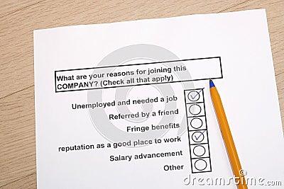 Raisons de joindre une compagnie