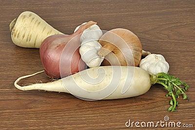 Raizes vegetais comestíveis